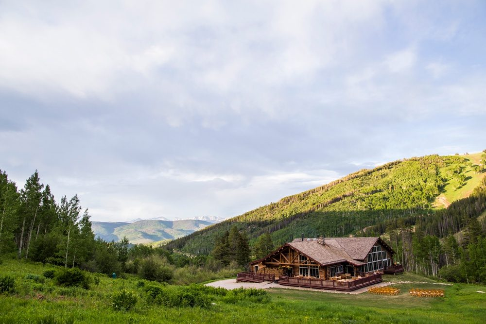 A deer's eye view of the luxury mountain lodge that is Beano's Cabin in Beaver Creek, Colorado.