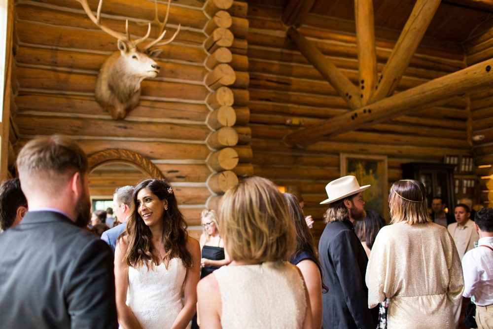 wedding guests mingle during cocktail