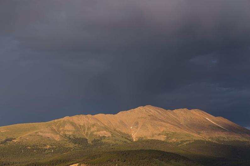 The view of Bald Mountain in Breckenridge, Colorado.