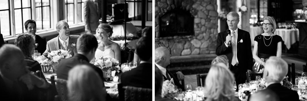 parents of the bride offer a toast to the bride and groom at their wedding reception