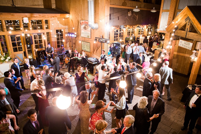 Guests on the dance floor at a Ten Mile Station wedding.