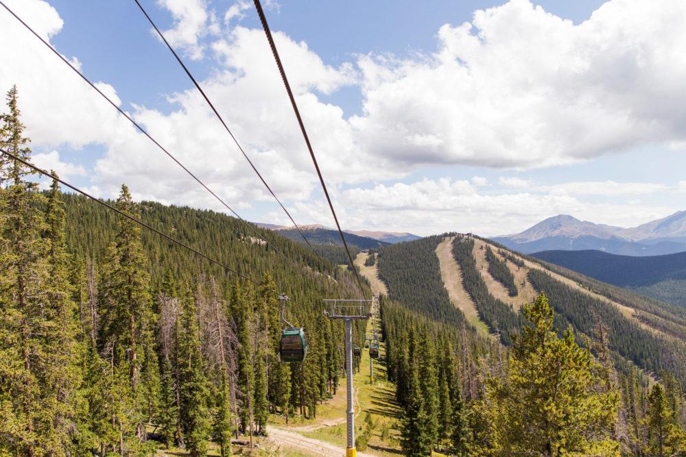 keystone ski resort gondola ride to north peak